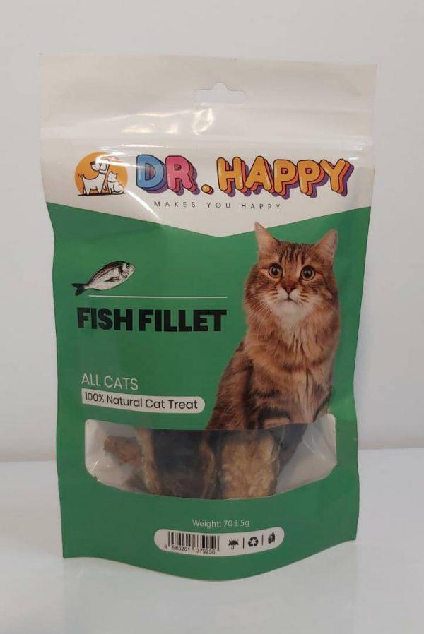 تشویقی غذای گربه دکتر هپی با فیله ماهی