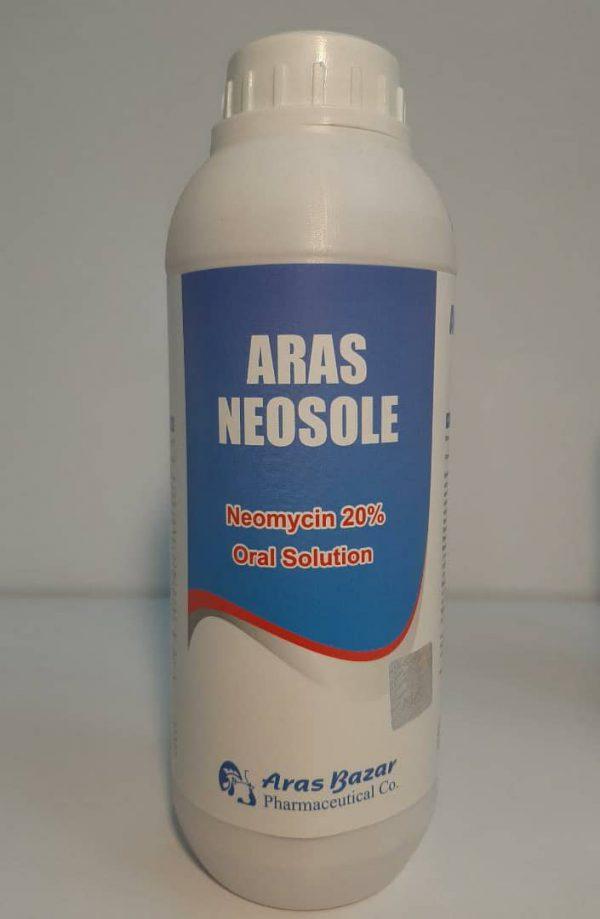 ارس نئوسول نئومایسین 20% (محلول خوراکی) گروه دارویی: آنتی بیوتیک (نسل اول آمینوگلیکوزیدها)